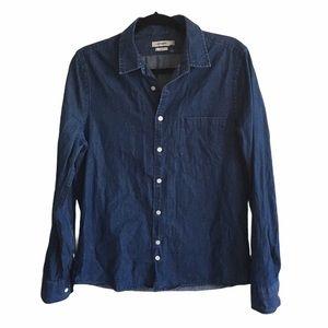 J. LINDEBERG Slim Fit Cotton Button Down Shirt M